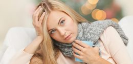 woman stressed at holidays