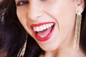 smiling woman with healthy teeth
