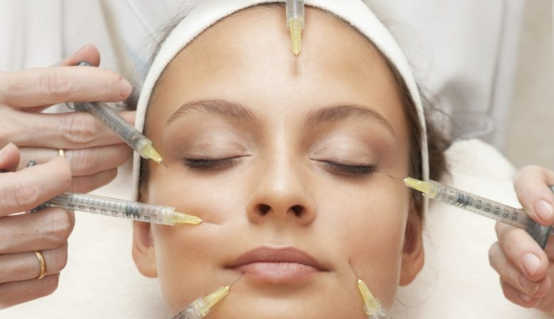 woman getting injectable fillers